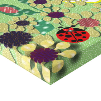 Polka Dot Garden Stretched Canvas Print