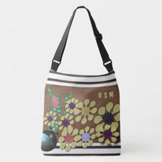 Polka dot garden crossbody bag