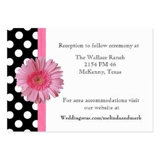 Polka Dot Gerber Daisy Wedding Enclosure Card Business Cards
