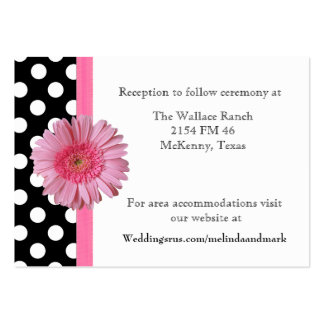 Polka Dot & Gerber Daisy Wedding Enclosure Card Pack Of Chubby Business Cards