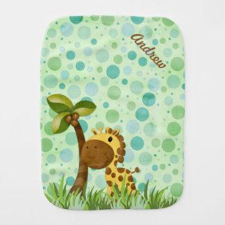 Polka Dot Giraffe Burp Cloth