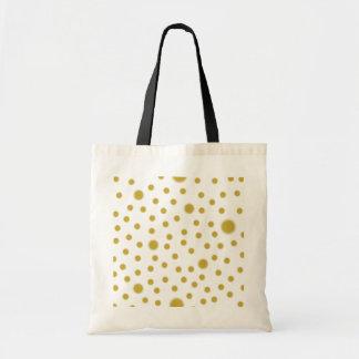 Polka Dot Gold Bag
