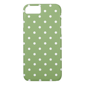Polka Dot Green & White iPhone 7 Case