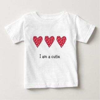Polka Dot Hearts Baby T-Shirt