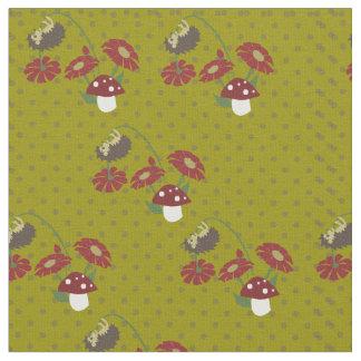 Polka dot hedgehogs fabric