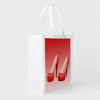 POLKA DOT HIGH HEELS (OMBRE) Reusable Grocery Bag