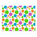 Polka Dot Image Postcard