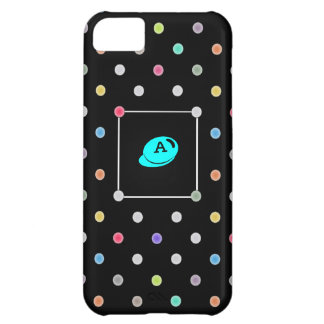 Polka-dot initial Iphone4 iphone case-mate case iPhone 5C Cover