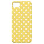 Polka Dot iPhone 5/5S Case in Lemon Zest Yellow