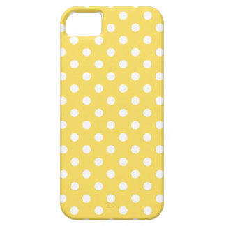 Polka Dot iPhone 5/5S Case in Lemon Zest Yellow