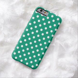 Polka Dot iPhone 6 case in Emerald Green Barely There iPhone 6 Case