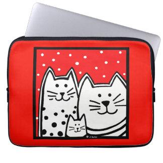 Polka Dot Kitties Lap Top Sleeve