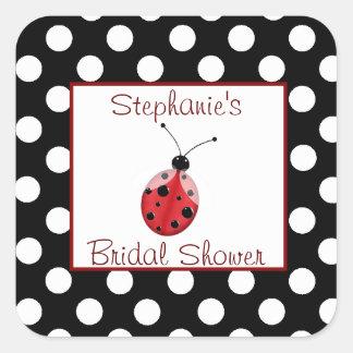 Polka Dot & Ladybug Bridal Shower Sticker