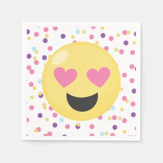 Polka Dot Love Emoji Paper Party Napkins Disposable Napkin