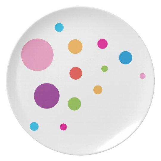 Polka Dot Melamine Plates