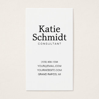 Polka Dot Modern, Minimal Business Card