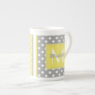 Polka Dot Monogram China Specialty Mugs