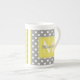 Polka Dot Monogram China Specialty Mugs