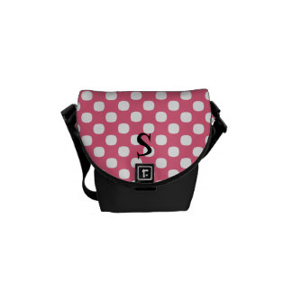 Polka Dot Monogram Mini Messenger Bag
