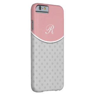 Polka Dot Monogram Style Barely There iPhone 6 Case