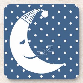 Polka Dot Moon Drink Coasters