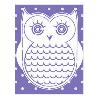 Polka Dot Owl Postcard