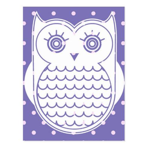 Polka Dot Owl Post Cards