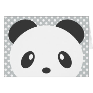 Polka dot panda note card