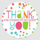 Polka Dot Party Hooray Thank You Favour Sticker