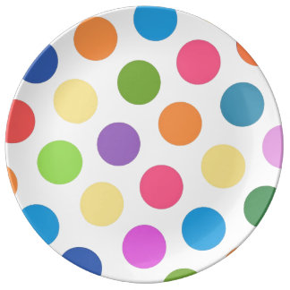 Polka Dot Party No. 1 Porcelain Plates