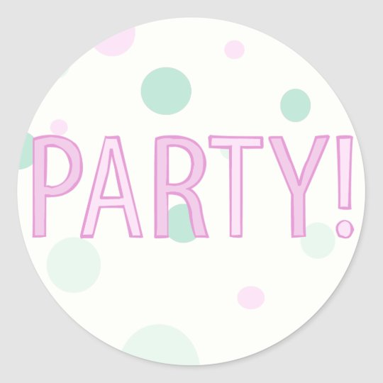 Polka Dot Party Sticker