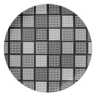 Polka Dot Patchwork Pattern Plates