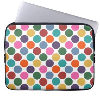 "Polka Dot Pattern 13"" Laptop Sleeve"