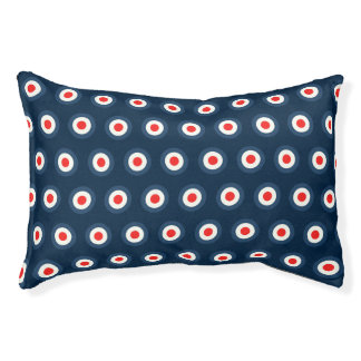 Polka Dot Pattern - Blue Red White Pet Bed