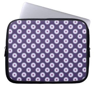 Polka Dot Pattern - Blue Violet Purple Lavender Laptop Sleeve