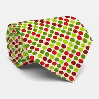 Polka dot pattern christmas Tie