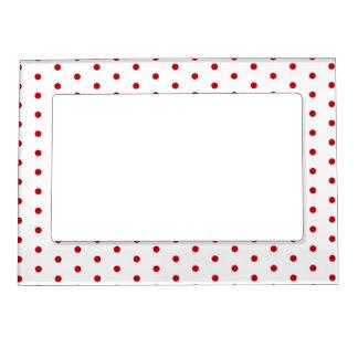 Polka dot pattern classic retro style photo frame