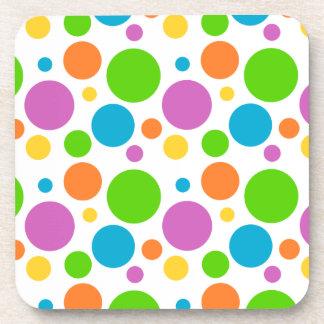 Polka Dot Pattern Coasters