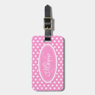Polka dot pattern named luggage tag