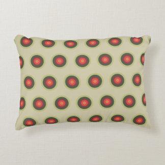 Polka Dot Pattern - Tomato Colors Decorative Cushion