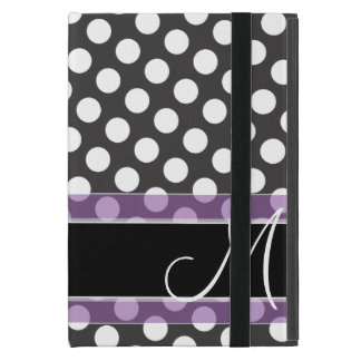 Polka Dot Pattern with Monogram Cover For iPad Mini
