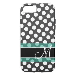 Polka Dot Pattern with Monogram iPhone 8/7 Case