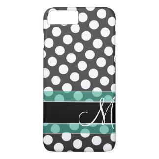 Polka Dot Pattern with Monogram iPhone 8 Plus/7 Plus Case
