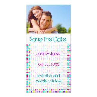 """Polka Dot/photo  """"Save the Date"""" Customized Photo Card"""