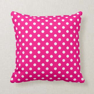 Polka Dot Pillow in Hot Pink