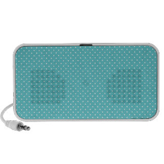 Polka dot pin dots girly chic blue pattern iPhone speaker