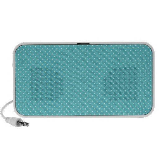Polka dot pin dots girly chic blue pattern iPhone speaker
