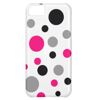 Polka Dot Pink Abstract Art iPhone 5C Cover