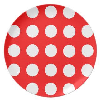 Polka Dot Dinner Plate