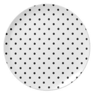 Polka Dot Plate, Black & White Party Plate
